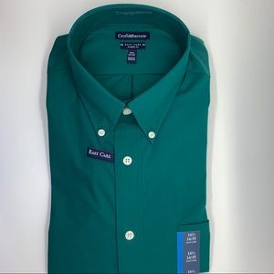Croft & Barrow Green Easy Care Classic Dress Shirt